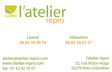 Atelier Repro Carte de Visite