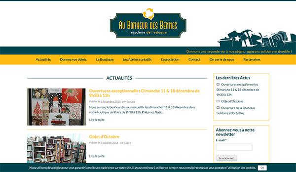 Au Bonheur Des Bennes Site Web administrable