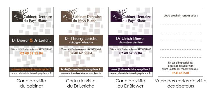 Cartes de visite Dentiste guérande