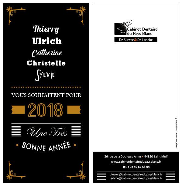 Carte Voeux 2018 cabinet dentaire saint molf