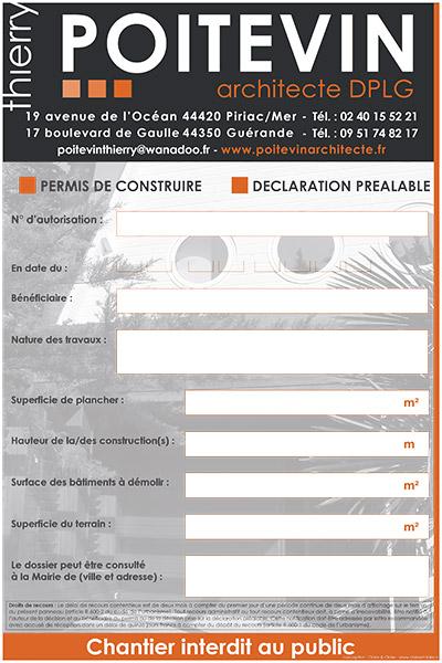 Poitevin Architecte Panneau de chantier