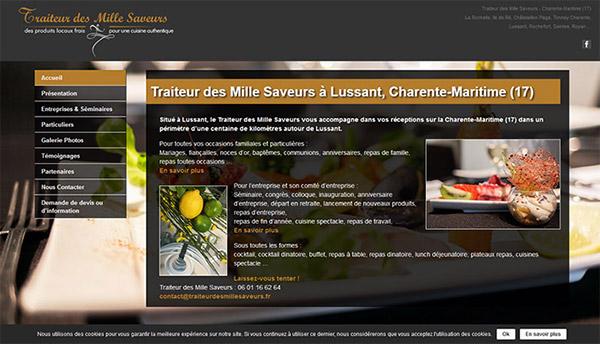 Traiteur des Mille Saveurs Site Web conception
