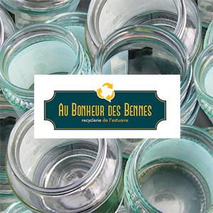 Au Bonheur des Bennes : logo, flyer, site web, marquages camion et enseigne