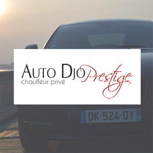 Auto Djo Prestige : logo, carte de visite, site web
