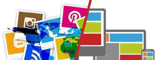 Réseaux sociaux VS Site web