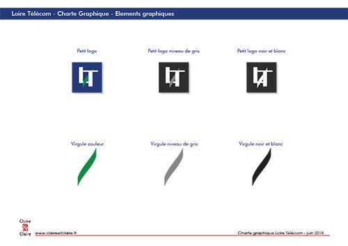 Loire Telecom - CharteGraphique conception