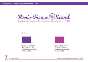 Charte Graphique Marie France Olivaud - Claire & Claire