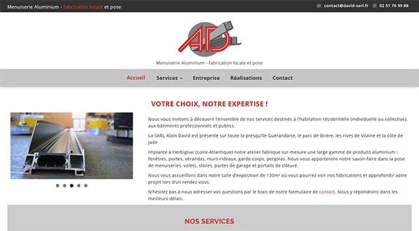 Menuiserie David Site Web création