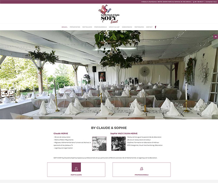 Sofy Event - site web