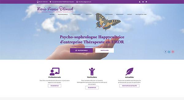 Site Web Marie France Olivaud e-commerce