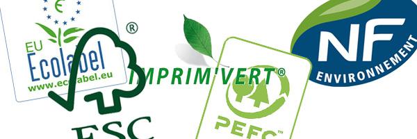 Les certifications et normes écologiques de l'imprimerie