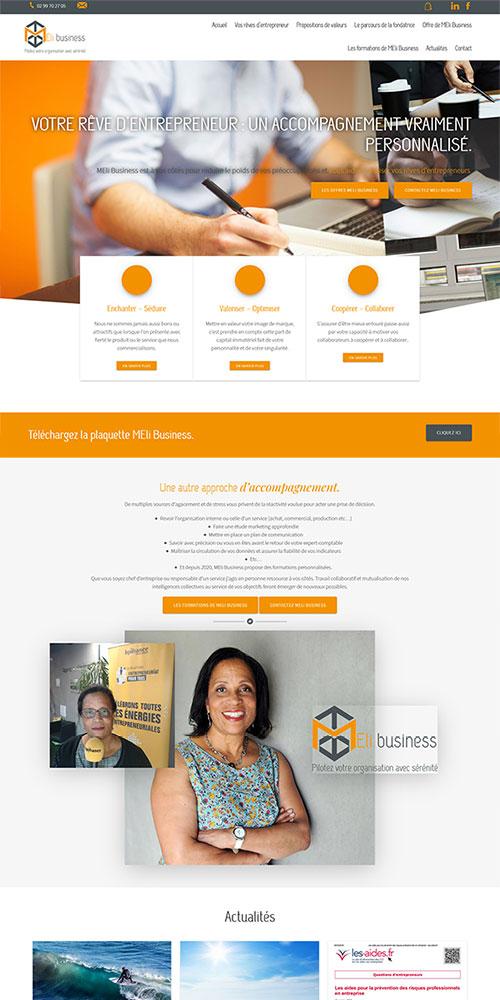 SiteWeb e-commerce MEliBusiness