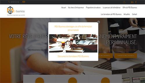SiteWeb e-commerce et pop up