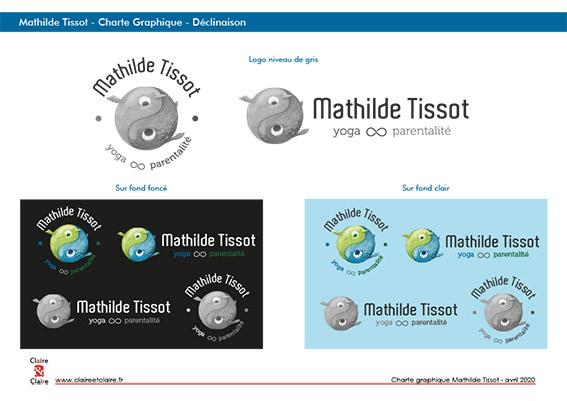 Charte Graphique logo Mathilde Tissot