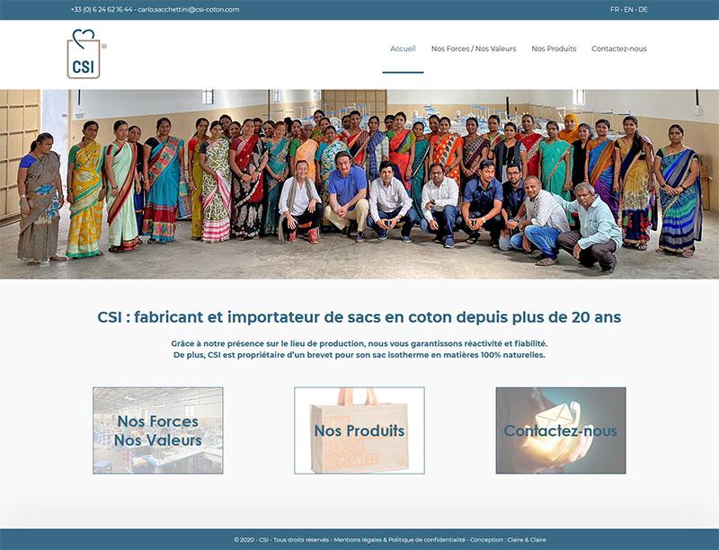 Site Web CSI création Claire & Claire