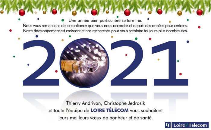Carte Voeux 2021 Loire Télécom Claire & Claire