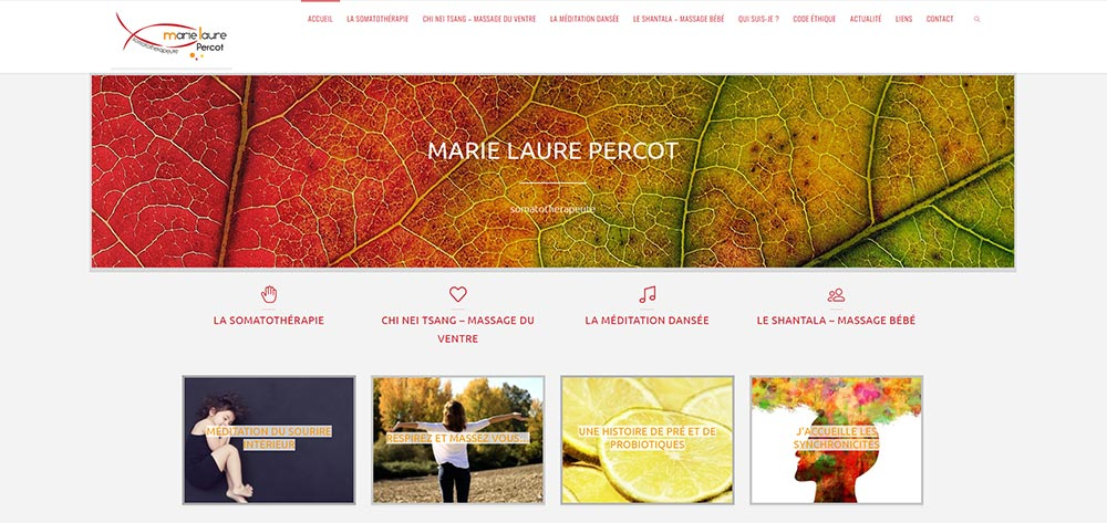 Marie Laure Percot site web administrable