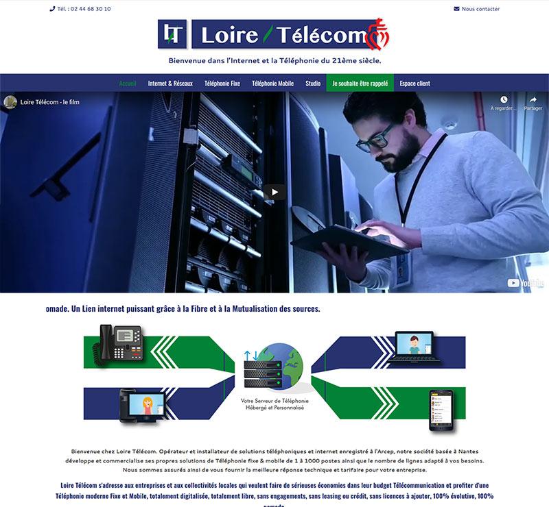 Site Web Loire Telecom Vendee Claire & Claire