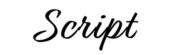 Les familles de typographie