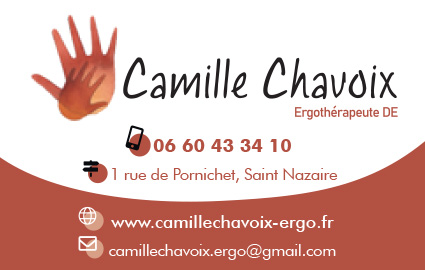 Carte de Visite Camille Chavoix création impression