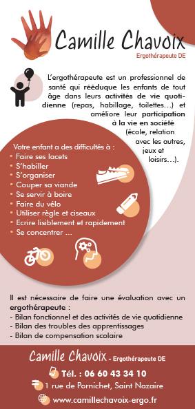 flyer Camille Chavoix création impression