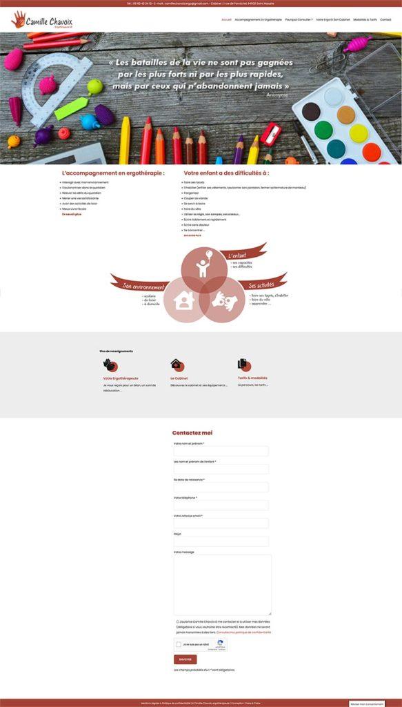 Site Web Camille Chavoix craétion réalisation